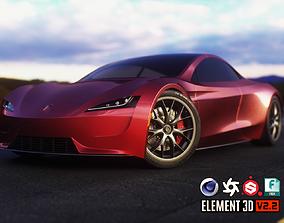 Tesla Roadster 2020 3D asset