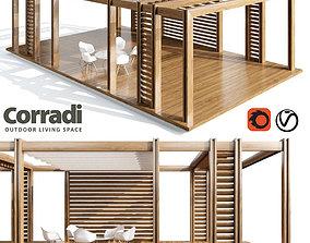 Pegola Corradi outdoor living space 3D model