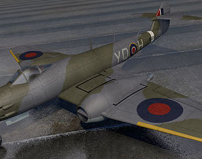 3D Gloster Meteor F3