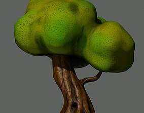 3D asset realtime trunk Cartoon Tree