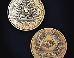 3D printable model Illuminati Coin