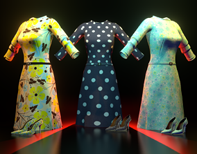 dress with shoes 3D model