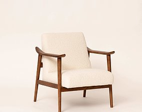 Mid century relax arm chair 3D