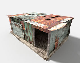 metal plates hut 3D model