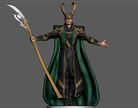 LOKI AVENGERS MCU TOM HIDDLESTON STATUE 3D printable model