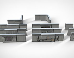 sci-fi Architecture kitbash 15 3D model
