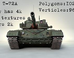 3D model PBR MBT T-72 A