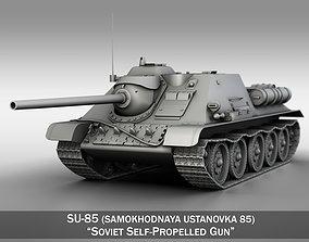 3D model SU-85 - Soviet Self-Propelled Gun