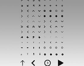 3D Arrows icons