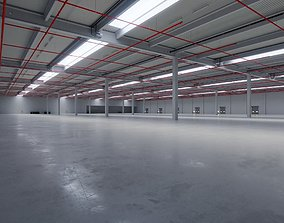 3D model Industrial Warehouse Interior 6