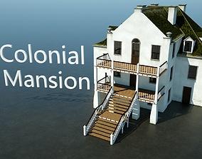 Colonial Mansion 3D asset