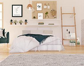 3D model low-poly Revit Bedroom