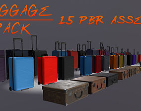 Luggage Pack - 15 PBR Assets 3D