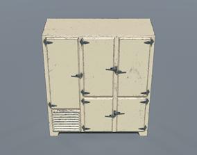 1950s Commercial Refrigerator 3D asset