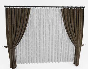 curtain 3D model cotton