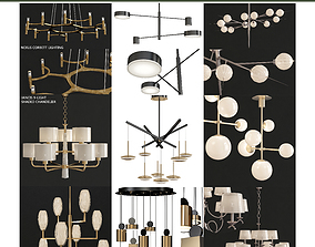 Chandeliers collection 10 models 3D asset