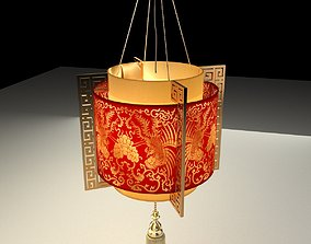 Chinese Red Lantern exterior architectural 3D model