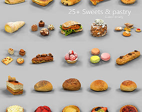 3D asset 25 Sweets and Pastry Collection