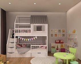 Baby bed 1 3D
