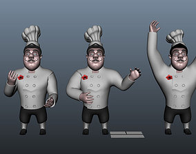 3D Chef cartoon 5 poses