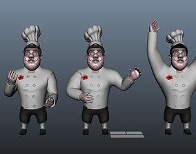 3D Chef cartoon 5 poses