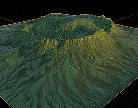 Mountainous Terrain Icelandic - 4k 3D model mountain