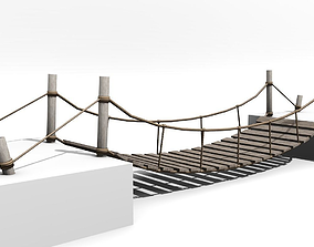Rope Bridge - Low poly 3D model