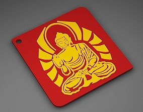 3D printable model Buddha Key chain