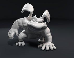 Funny athletic gargoyle 3D printable model
