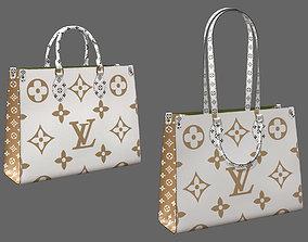 3D model Louis Vuitton Onthego Giant Monogram Gold White