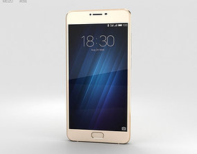 3D model Meizu U10 Shampane Gold