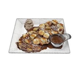 Matcha banana Pancakes 3D model