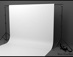 3D Professional photo studio backdrop