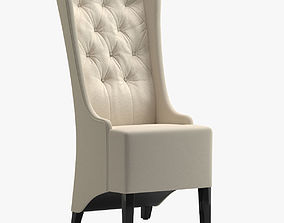 3D White Luxurious Leather Chair