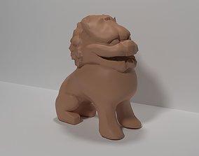 3D printable model Lion or Komainu sculptures