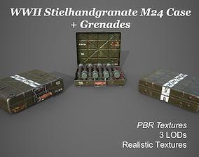 3D model WWII Stielhandgranate M24 Case with 2