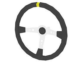 Sports Steering Wheel 3D asset