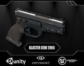 Futuristic Combat Pistol 3D asset low-poly