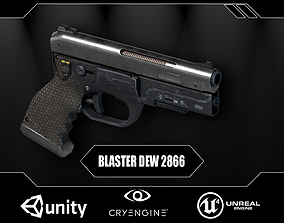 Futuristic Combat Pistol 3D asset