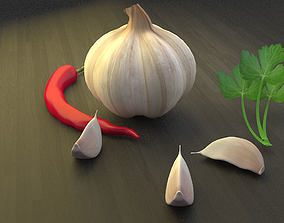 Garlic Chilli Parsley 3D model