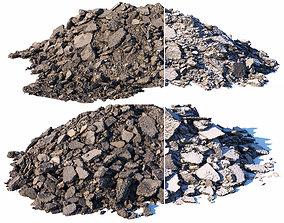 3D model Pile of broken asphalt