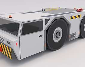 3D asset low-poly Aircraft Tow Tractor