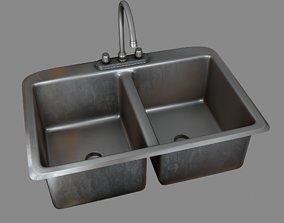 Kitchen Sink 3D model realtime