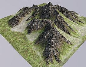 3D model Mountain terrain mountain