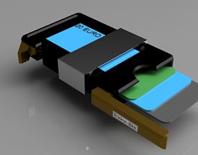 SLIM WALLET WITH MONEY CLIP 3D print model
