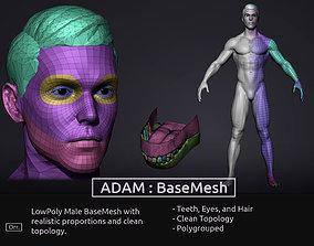 Male BaseMesh - LowPoly 3D