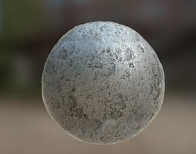 PBR Material Texture set 020 Silver Moon Metal 3D asset