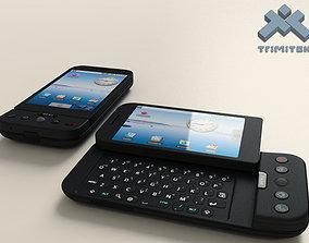 HTC Dream G1 Google Android phone - 2008 3D