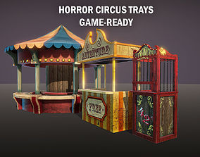 3D model realtime Horror circus trays