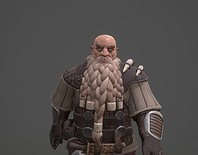 Dwarf game ready 3d model animated